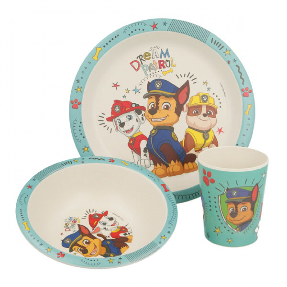Set Bambu 3pcs. Patrulla Canina Boy Dream Patrol