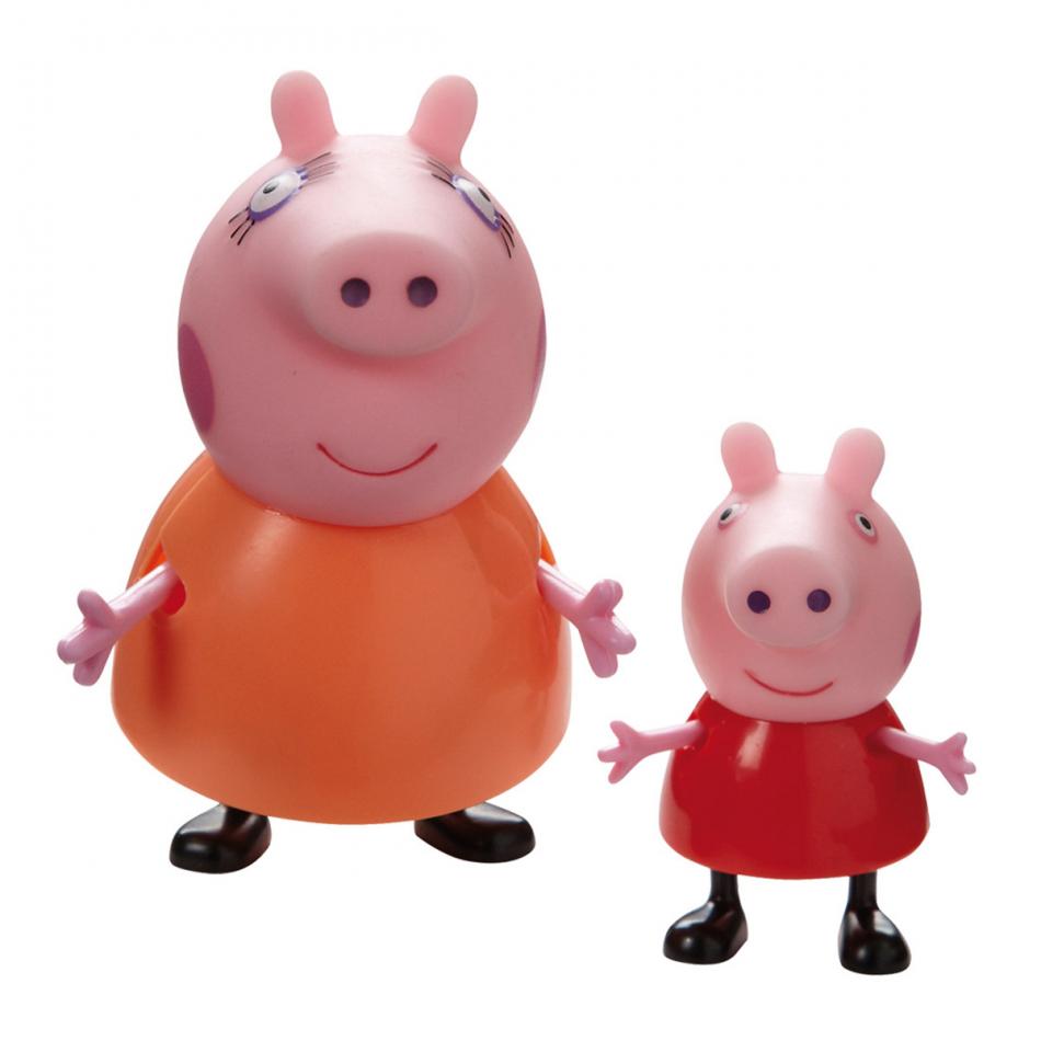 Figuras Coleccionables Familia Peppa Pig 2 unidades: Mamá Pig y Peppa Pig