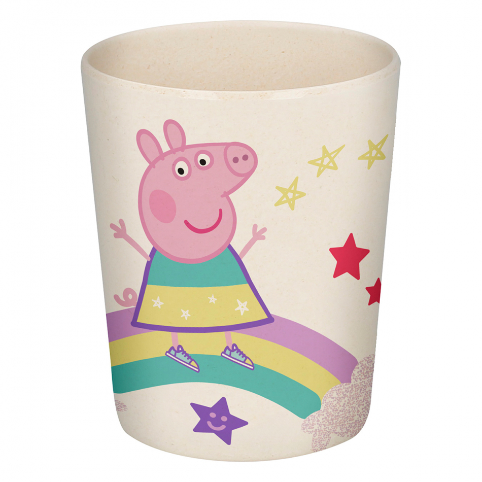 Vaso bambú 270ml. Peppa Pig Magical