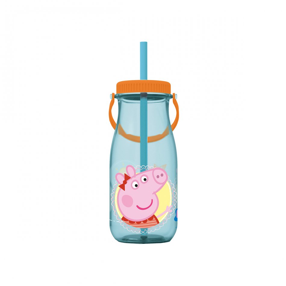 Botella leche con asa 370ml. Peppa Pig Core