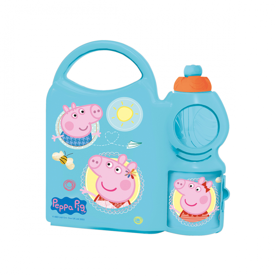 Combo set con botella sport 400ml. Peppa Pig Core