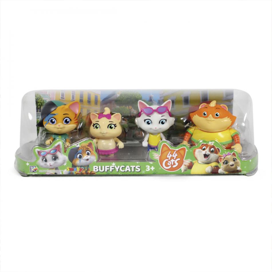 44 Gatos - Pack 4 Figuras 8 cm