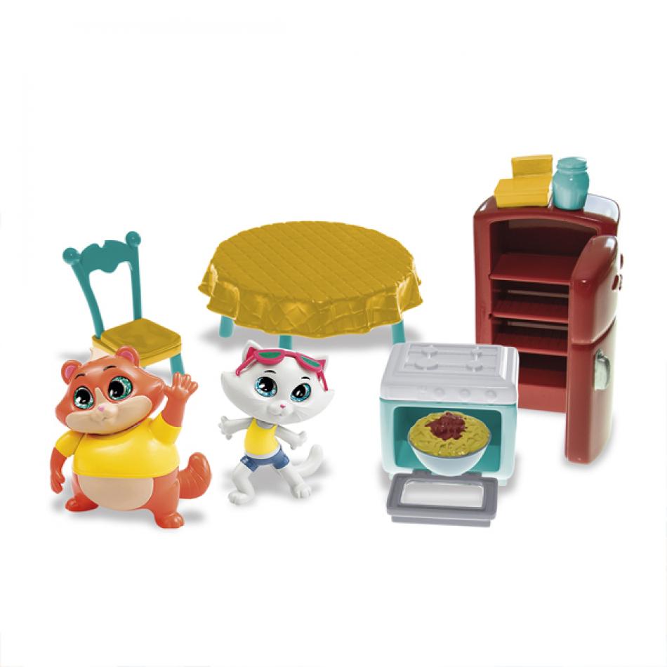 44 Gatos - Playset Cocina Abuela Pina 2 Figuras