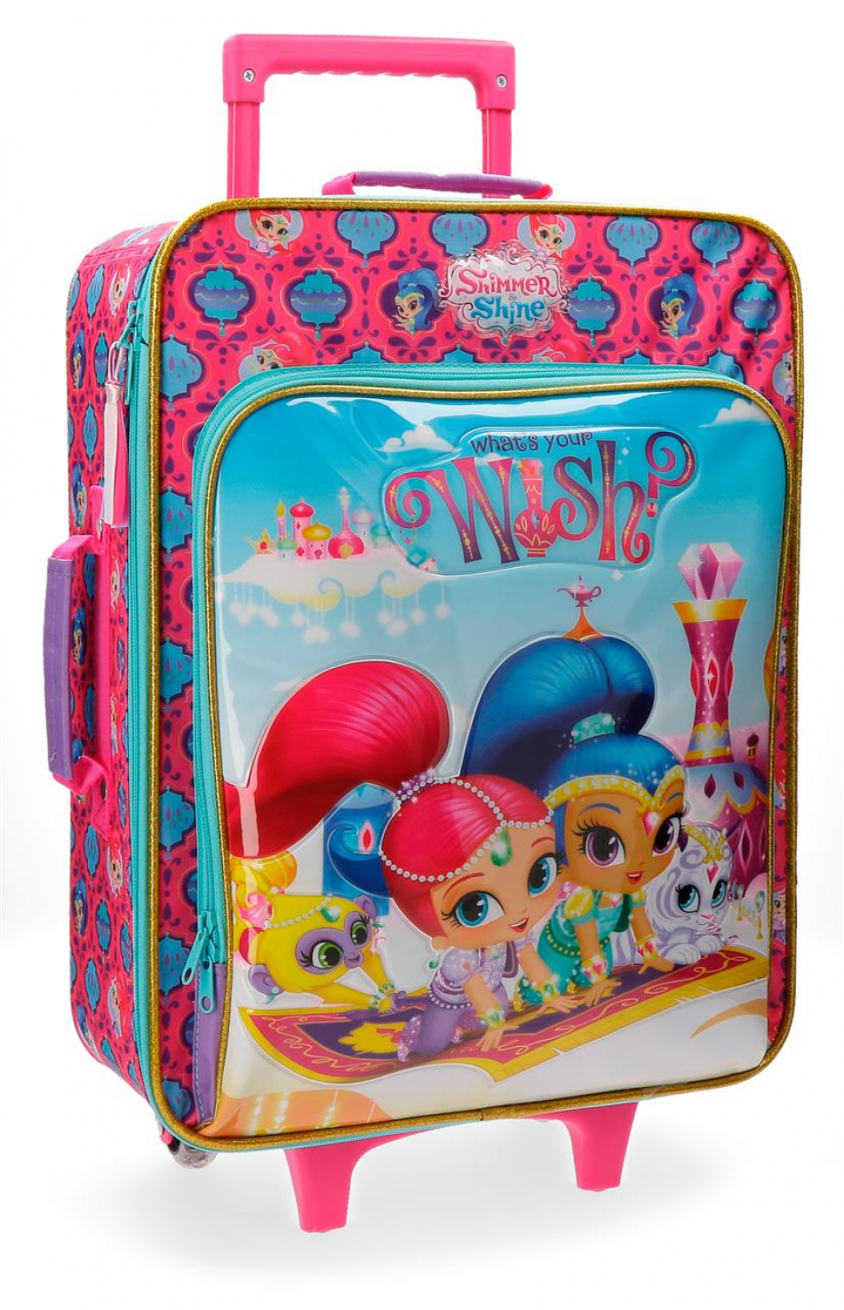 Trolley 50 cm. 2 ruedas Shimmer y Shine Wish