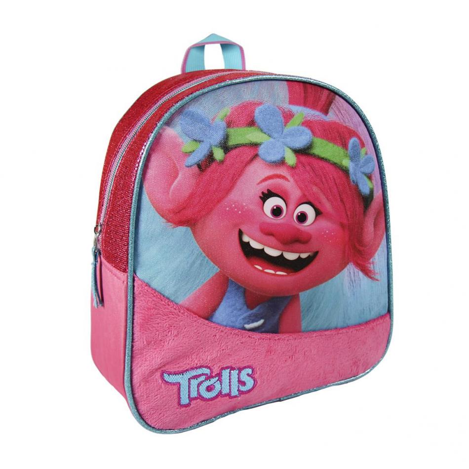 Mochila infantil Poppy azul y rosa Trolls