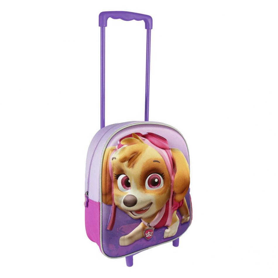 Mochila carro infantil 3D Skye lila La Patrulla Canina