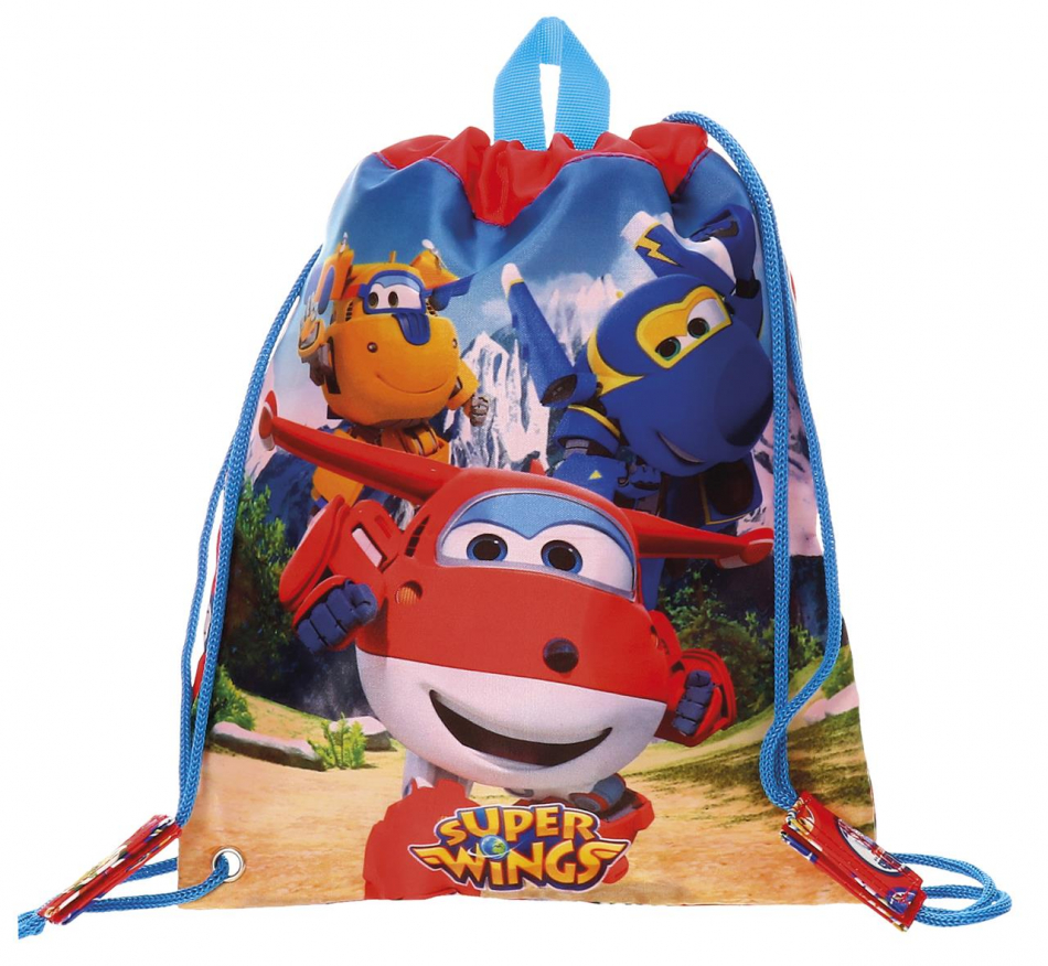 Bolsa de merienda grande Super Wings Mountain 34 cm.