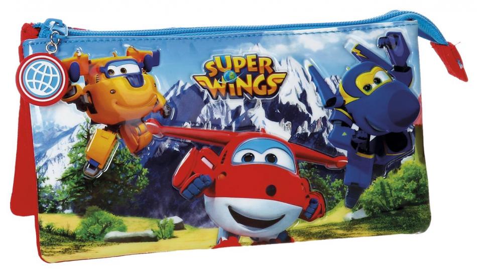 Neceser 3 cremalleras Super Wings Mountain