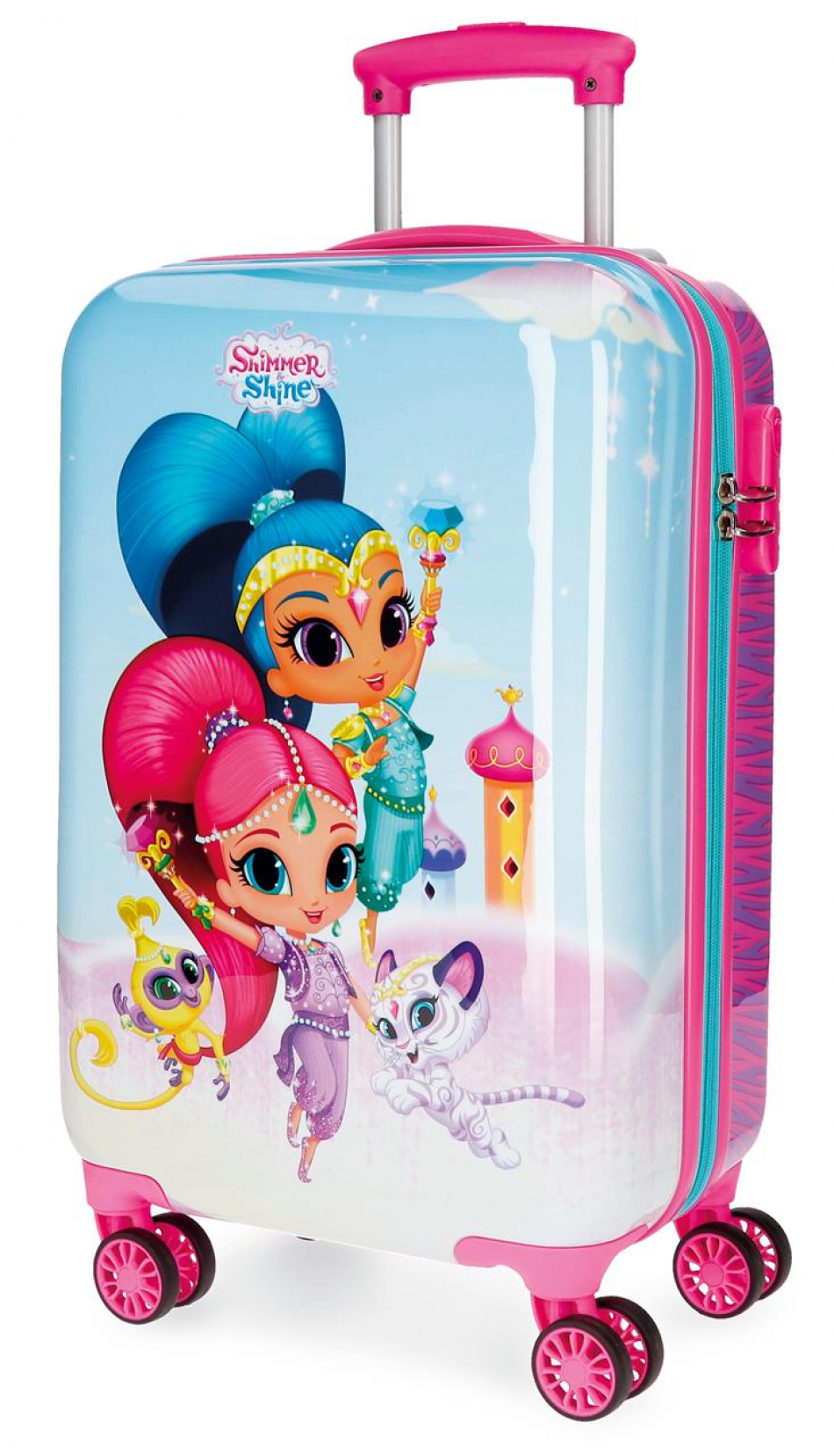 Trolley ABS 55 cm. 4 ruedas Shimmer y Shine Twinsies