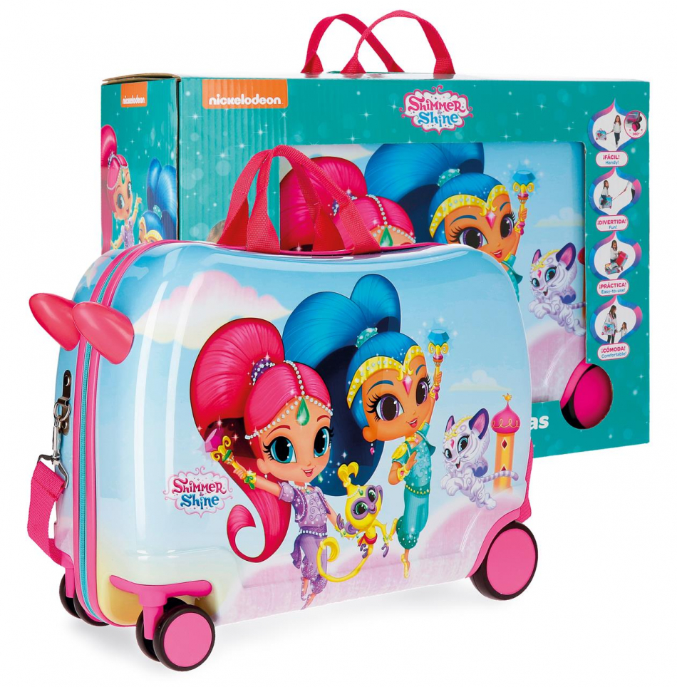 Maleta inflable ABS 4 ruedas Shimmer y Shine con caja