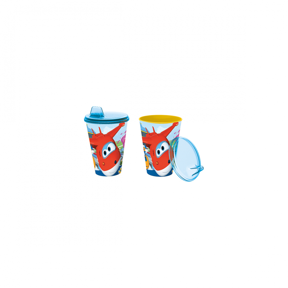 Vaso con sipper easy 430ml. Super Wings