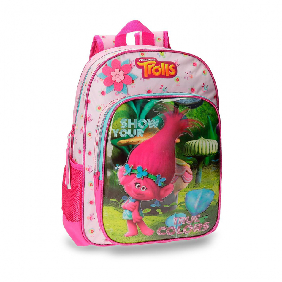 Mochila adaptable 38 cm. Trolls True colors