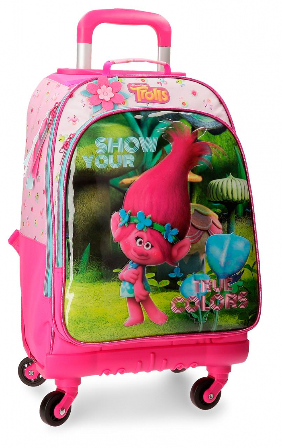 Trolley-mochila 4 ruedas Trolls True colors