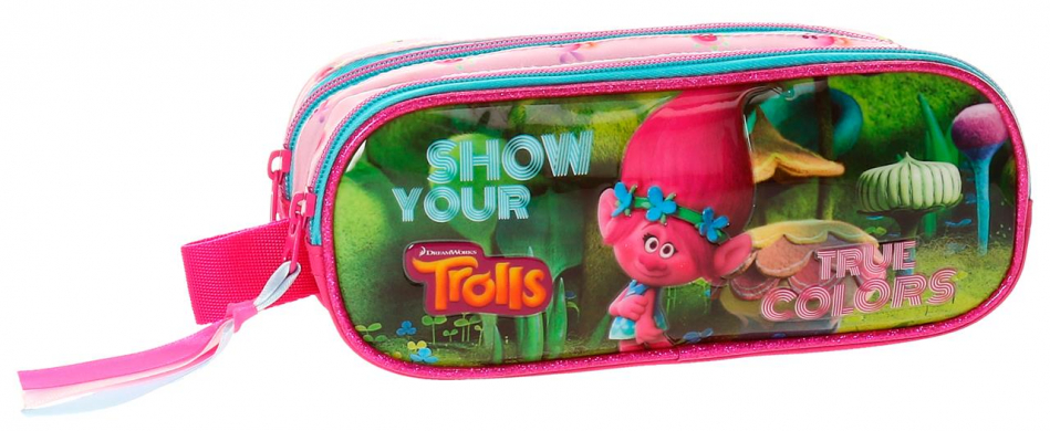 Neceser 2 cremalleras Trolls True colors