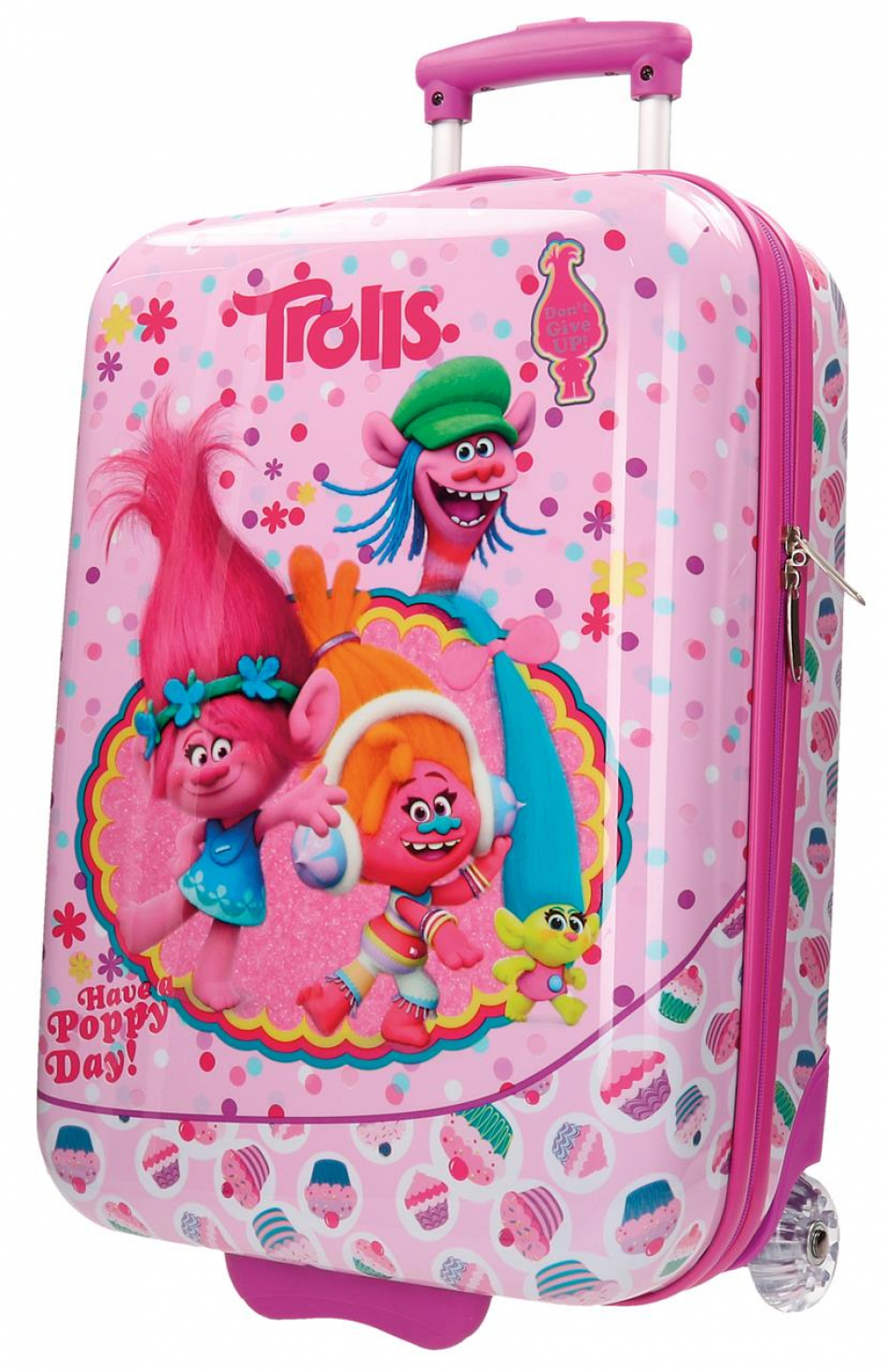 Trolley ABS 55 cm. 2 ruedas Trolls Happy
