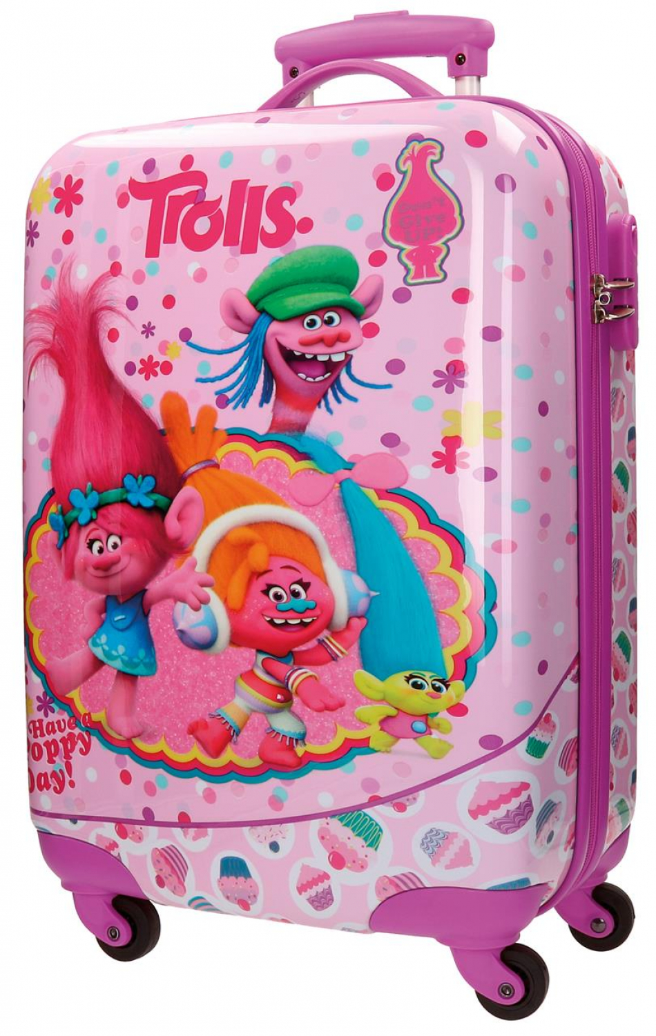 Trolley ABS 55 cm. 4 ruedas Trolls Happy
