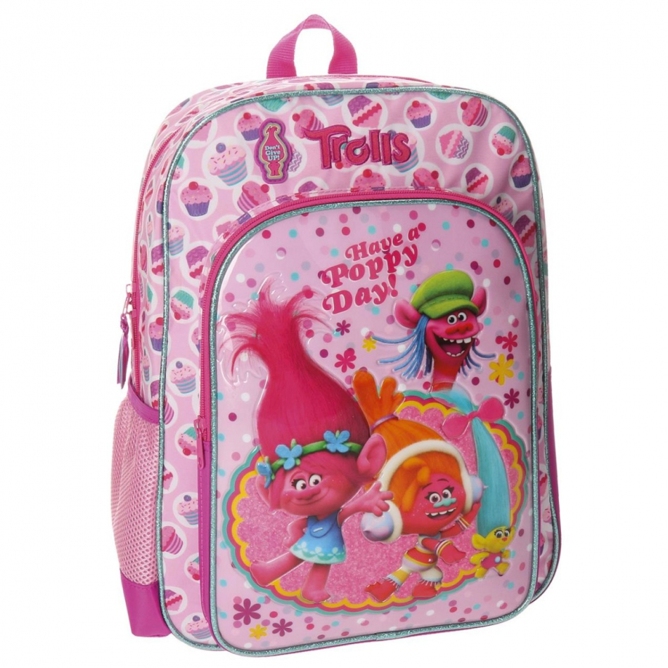 Mochila adaptable 40 cm. Trolls Happy
