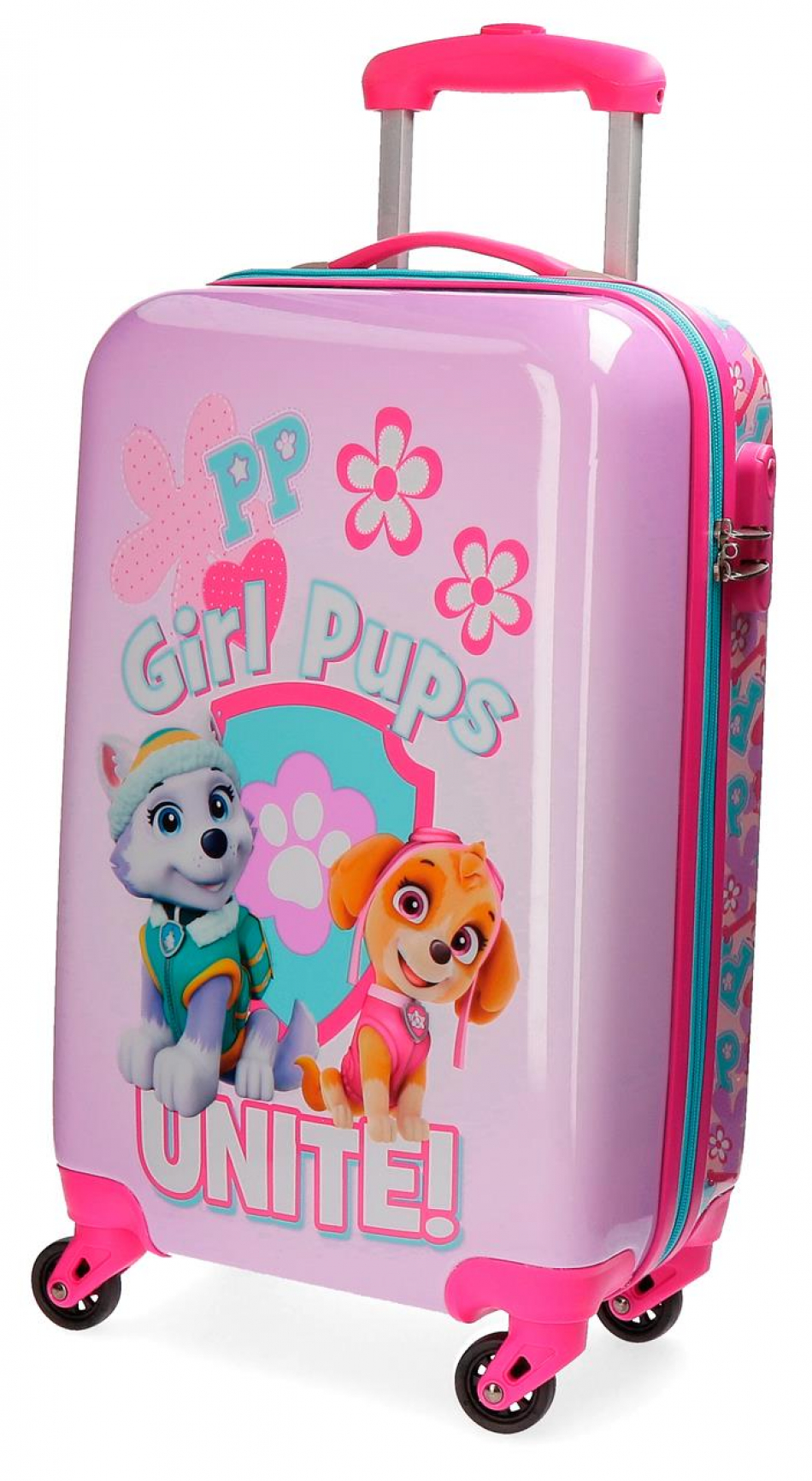 Trolley ABS 55 cm. 4 ruedas La Patrulla Canina Girls pups