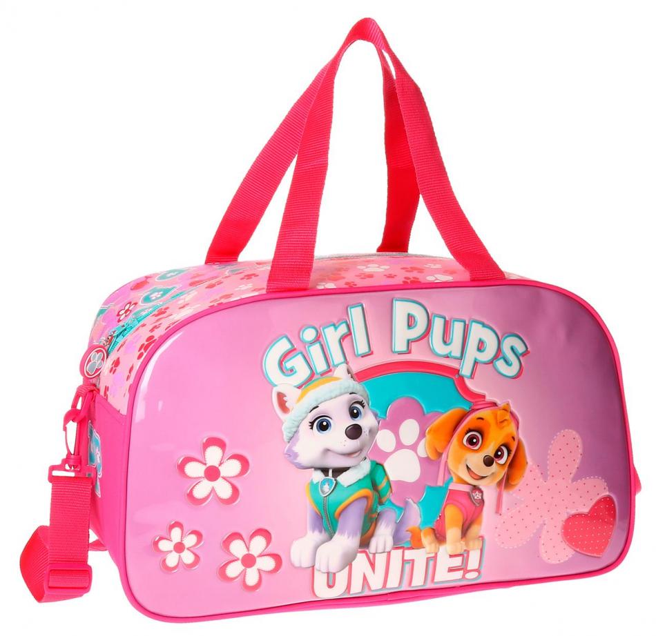 Bolsa de viaje 44 cm. La Patrulla Canina Girls pups