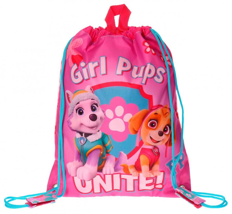 Bolsa de merienda mediana La Patrulla Canina Girls pups