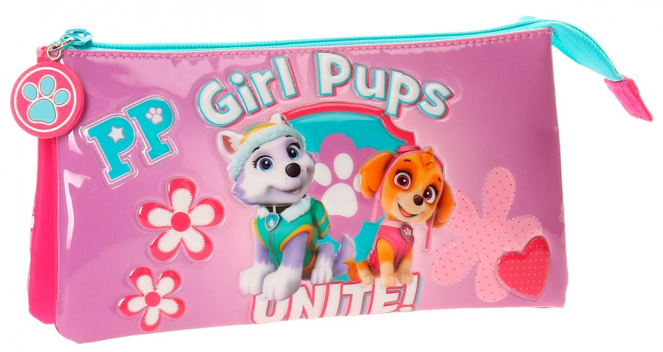 Neceser 3 cremalleras La Patrulla Canina Girls pups
