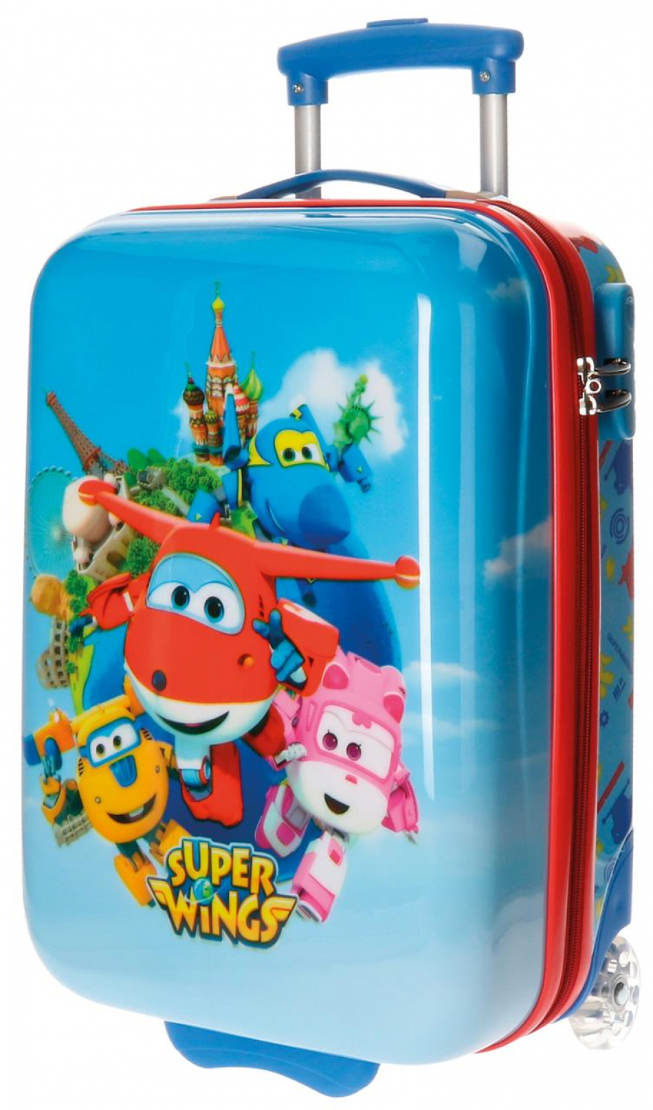 Trolley ABS 50 cm. 2 ruedas Super Wings
