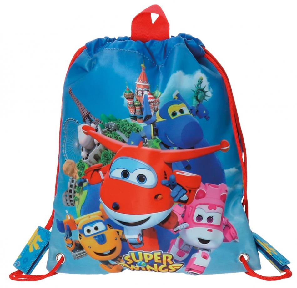Bolsa de merienda Super Wings world 34cm