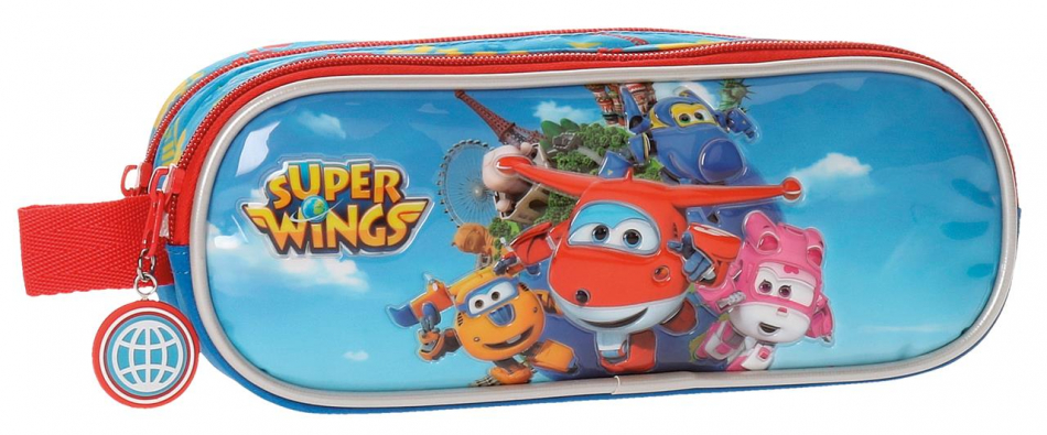 Neceser 2 cremalleras Super Wings