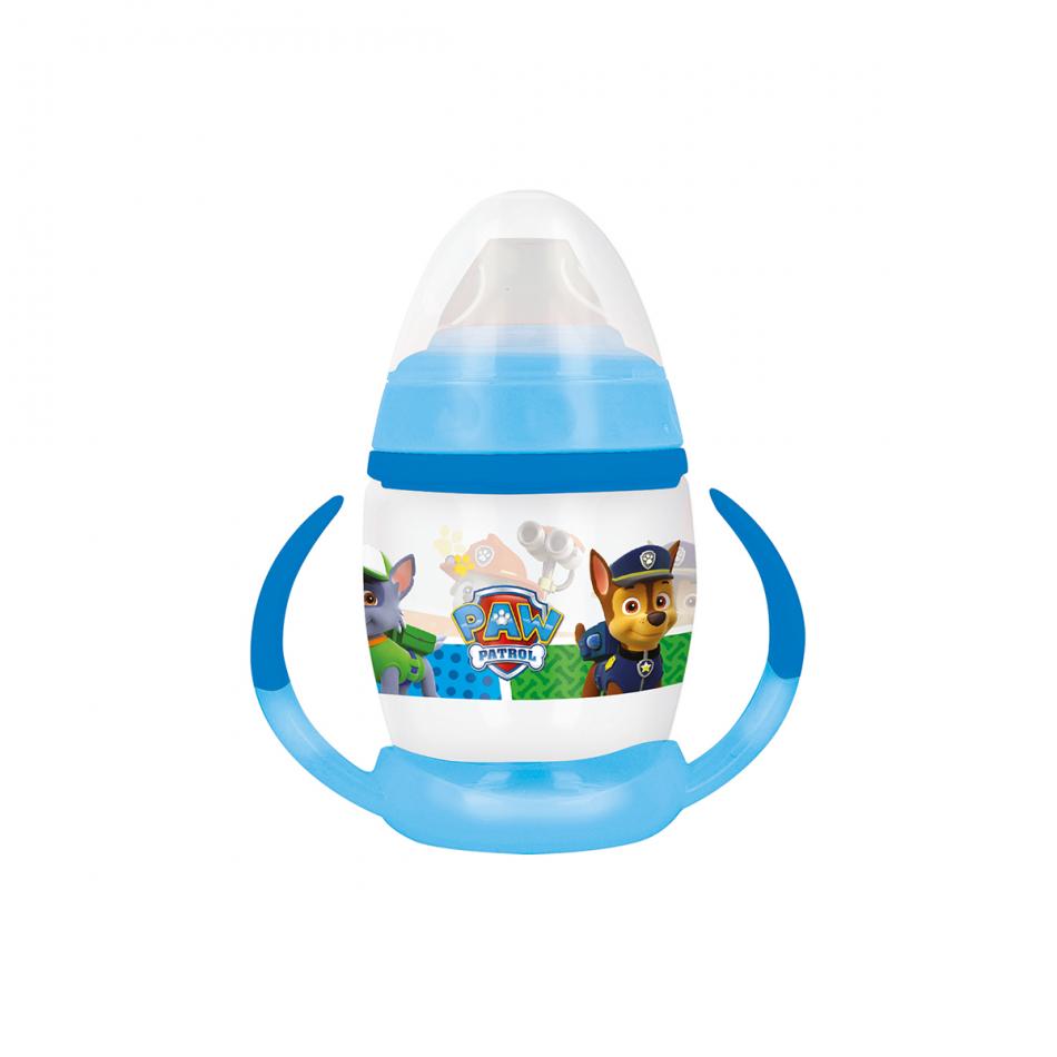 Taza entrenamiento bebé fancy 270ml. con boquilla de silicona La Patrulla Canina