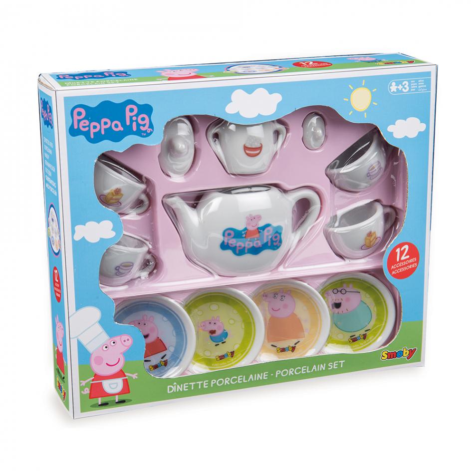 Peppa Pig - Set de té de porcelana de 12 piezas
