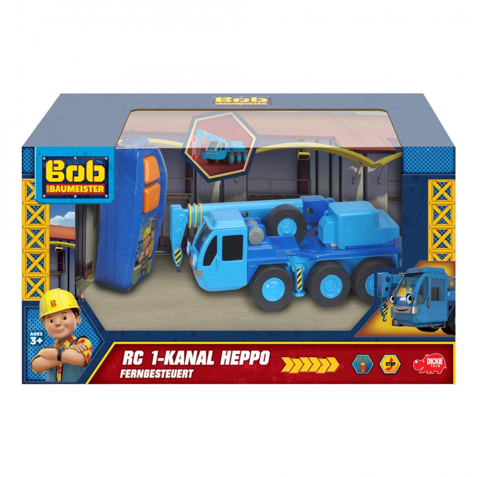 Bob el Constructor - Vehículo radiocontrol monocanal grúa Lofty 20cm