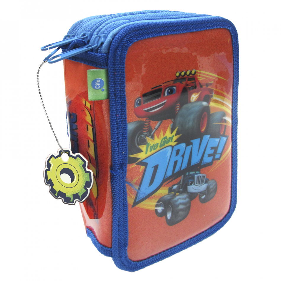 Estuche 3 pisos Blaze and the Monster machines