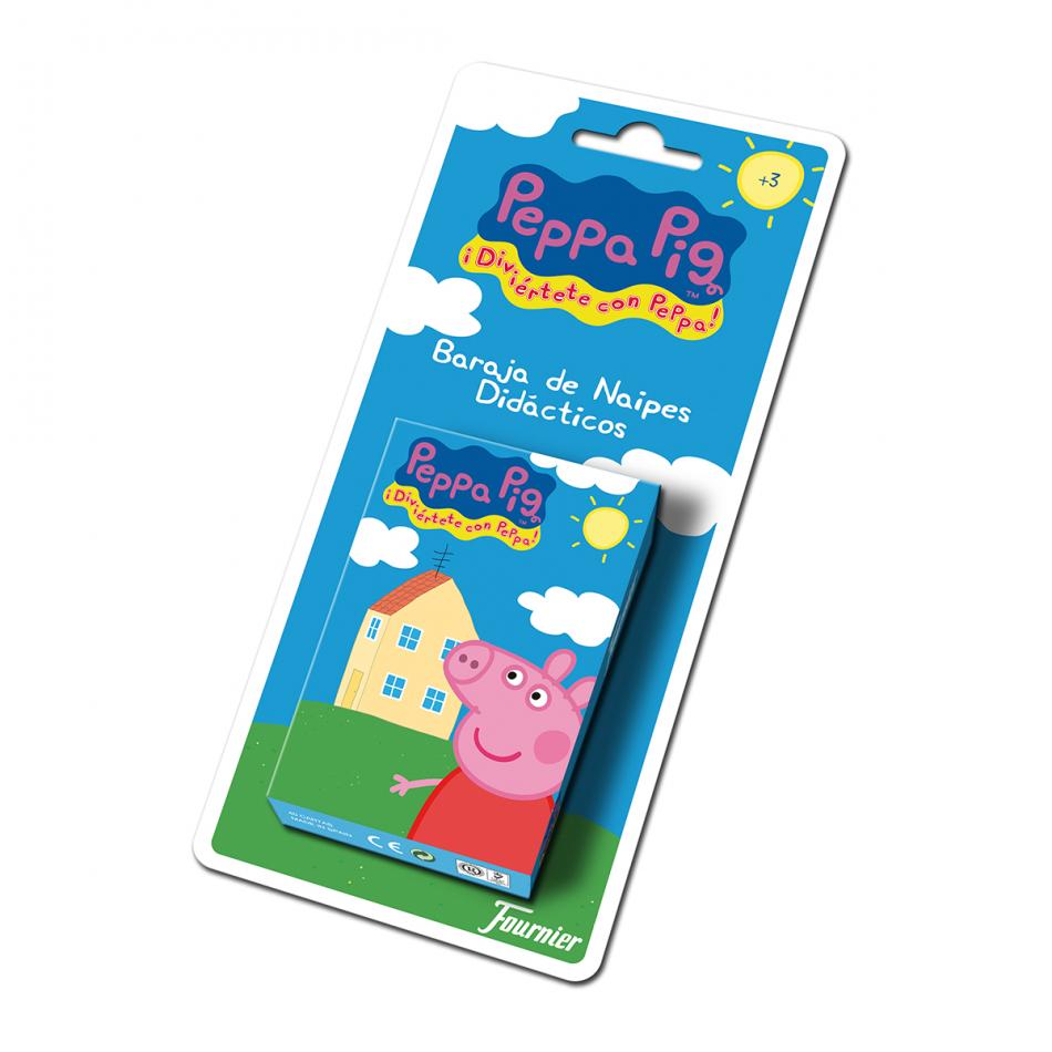 Baraja de naipes en blister de Peppa Pig