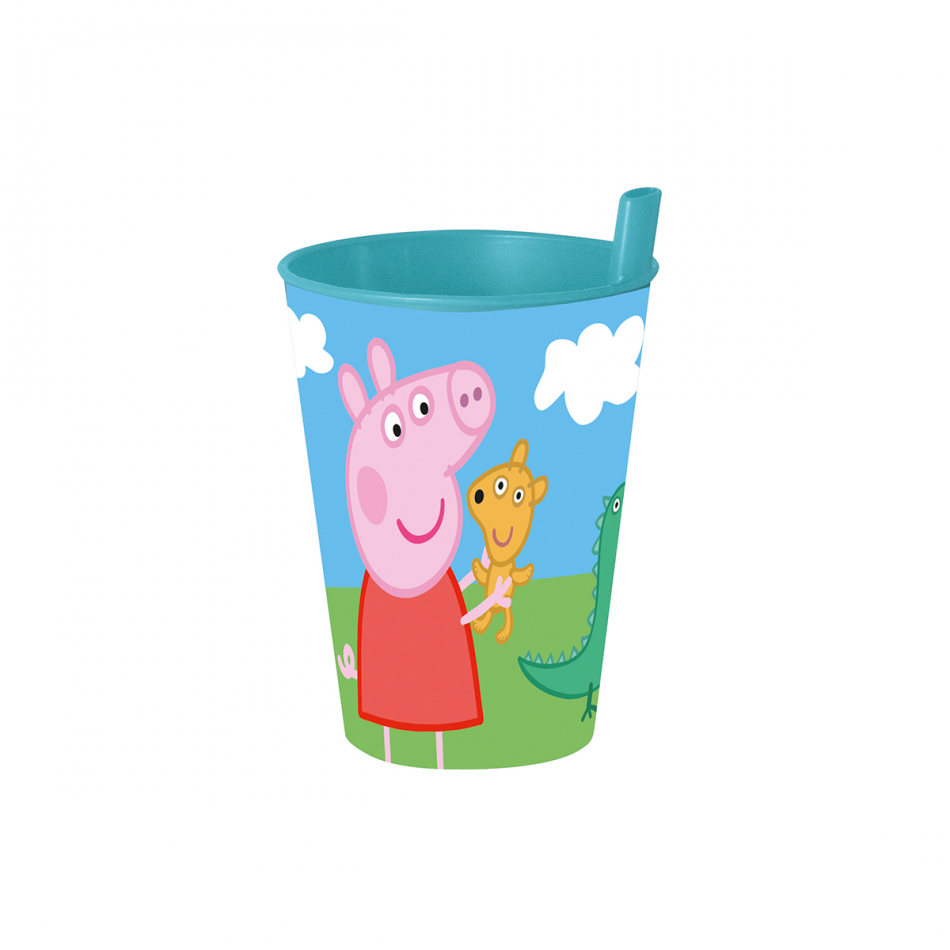 Vaso pajita 260ml. Peppa Pig