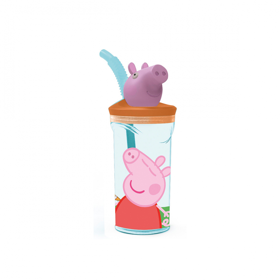 Vaso figurita 3D 360ml. Peppa Pig Core
