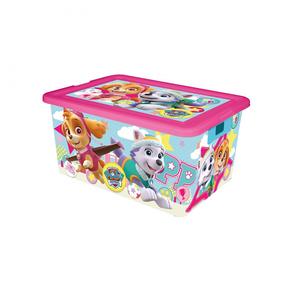 Caja de ordenación 35L La Patrulla Canina Girl
