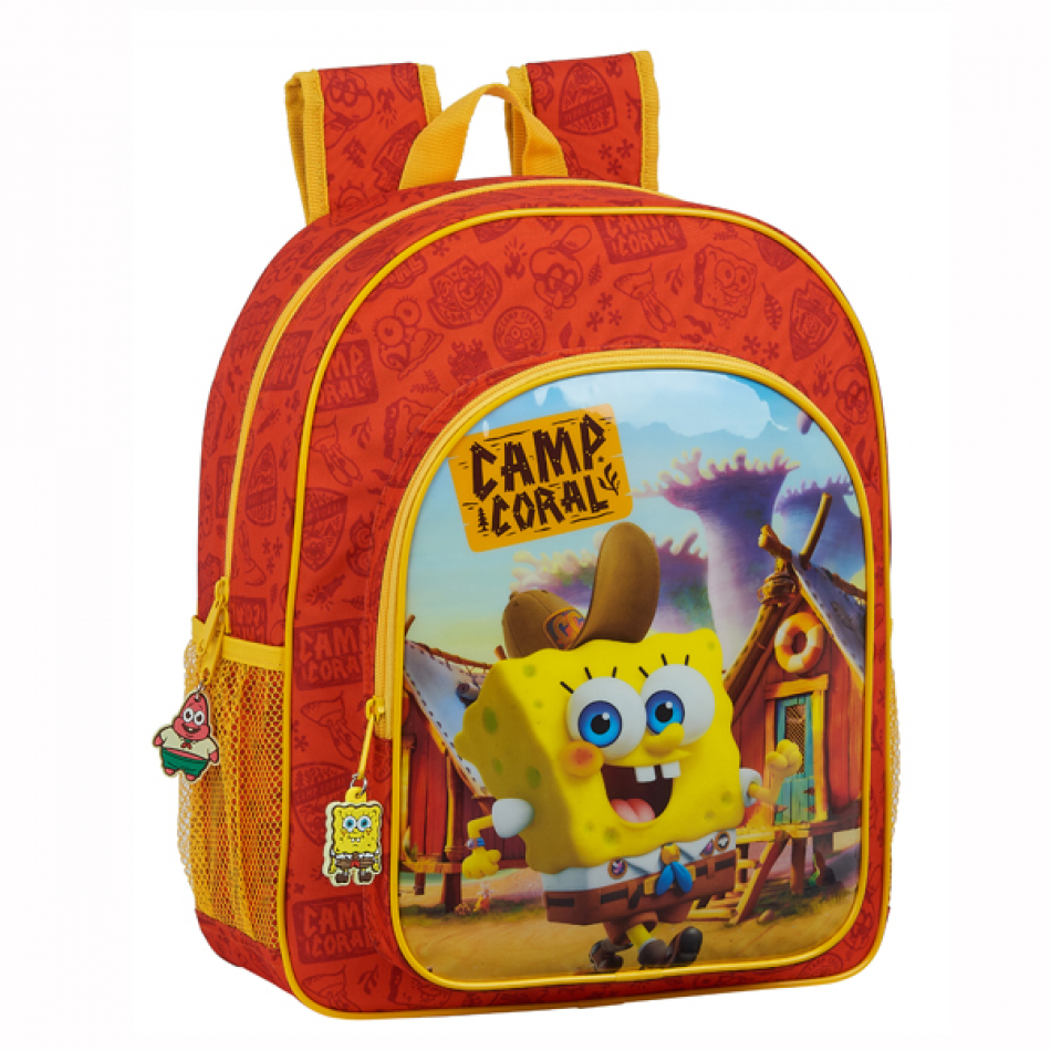 Mochila Junior Bob Esponja Adaptable a Carro