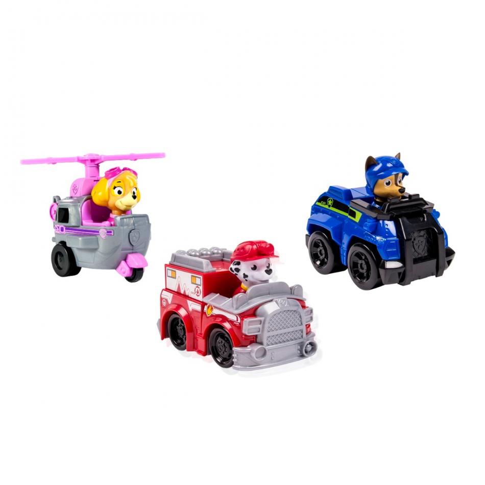 Set de 3 vehículos: Marshall, Skye y Chase al Rescate La Patrulla Canina