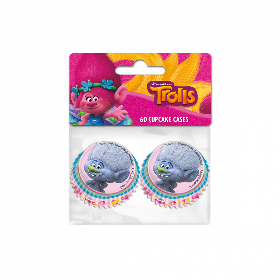 Trolls moldes - 60 unidades. Papel de moldes para bombones, mini magdalenas, mini de cupcakes, 4 cm de diámetro)