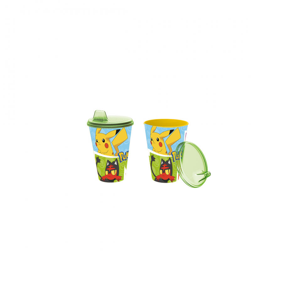 Vaso con sipper easy 430ml. Pokémon