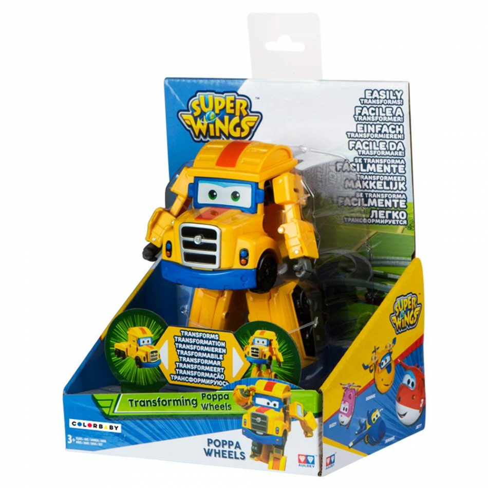 Transforming Super Wings Poppa Wheels