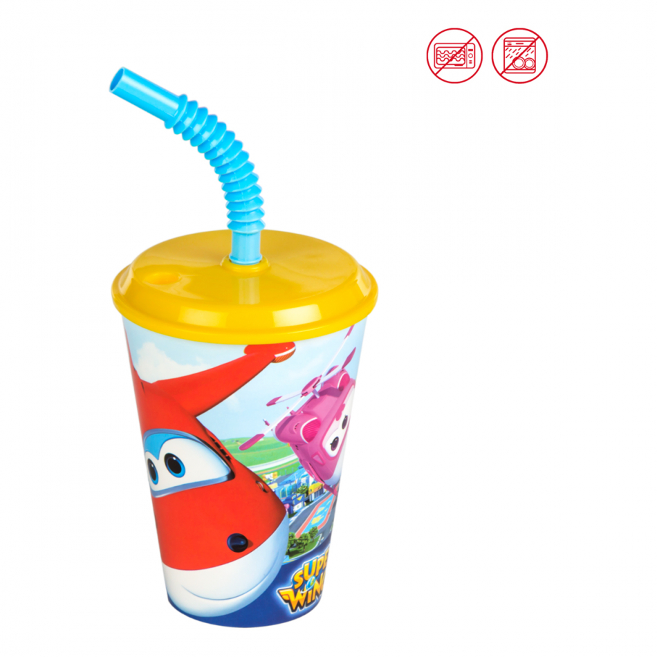 Vaso caña 430 ml. Super Wings
