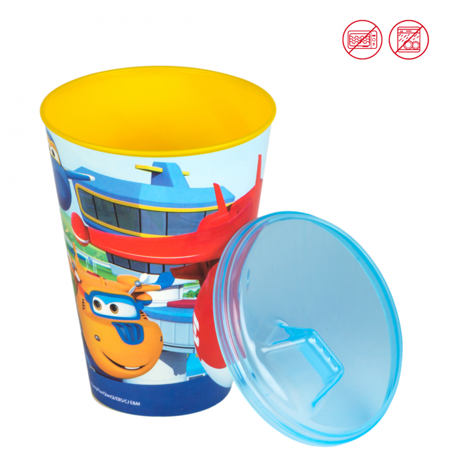 Vaso Value 430 ml. con boquilla Super Wings
