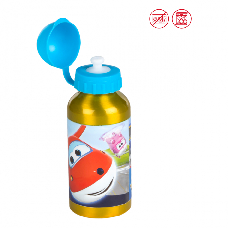 Botella aluminio 400 ml. Super Wings