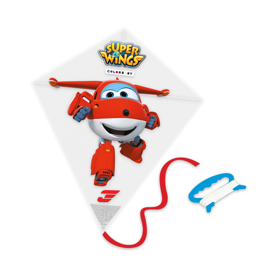 Cometa plástico diamante Super Wings Jett transformación