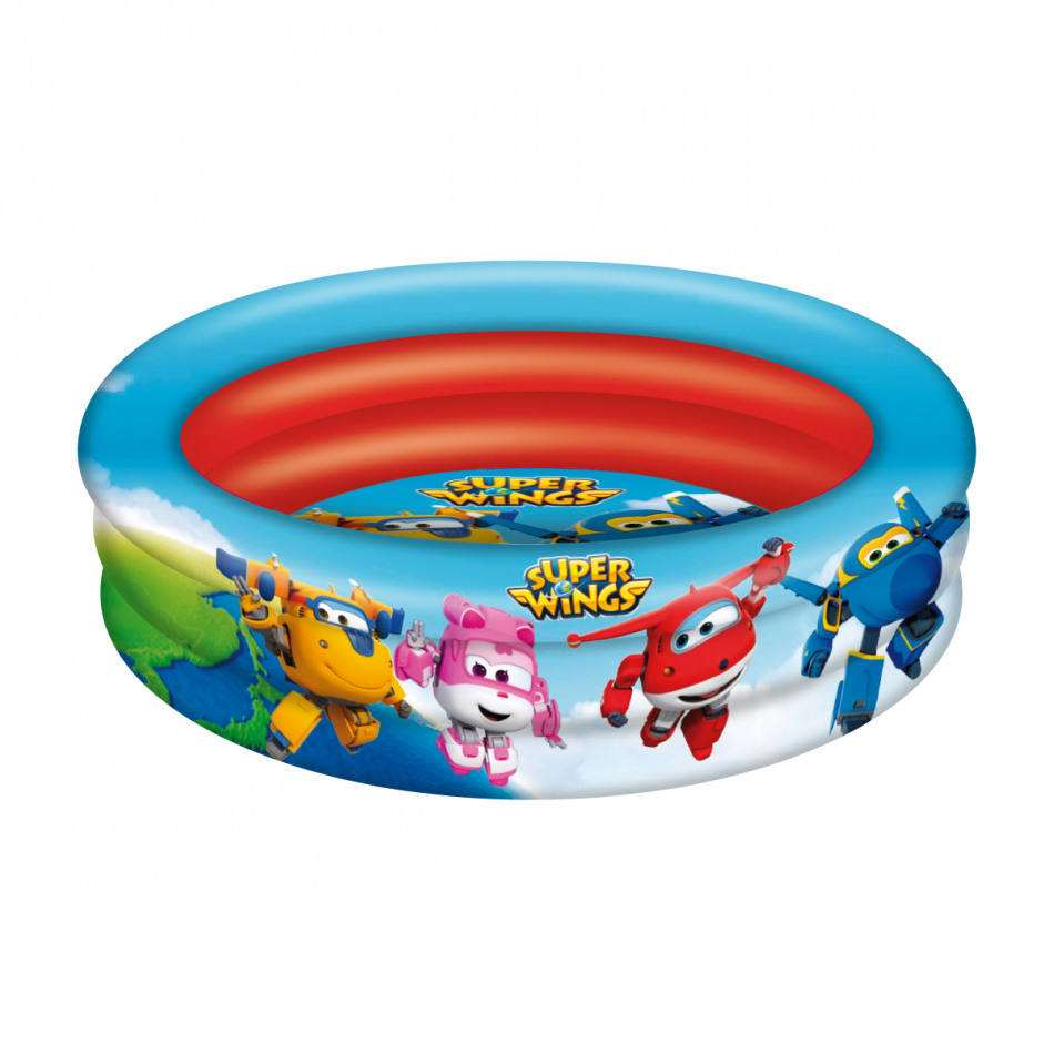 Piscina 3 aros diámetro 86 cm. Super Wings
