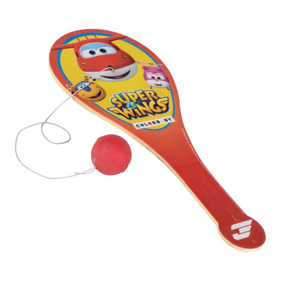 Juego raqueta con Pelota 24 x 10 cm. Super Wings pala roja