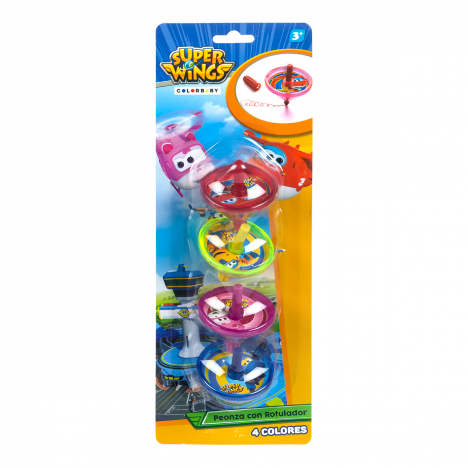 Blister 4 peonzas Dibujo Super Wings