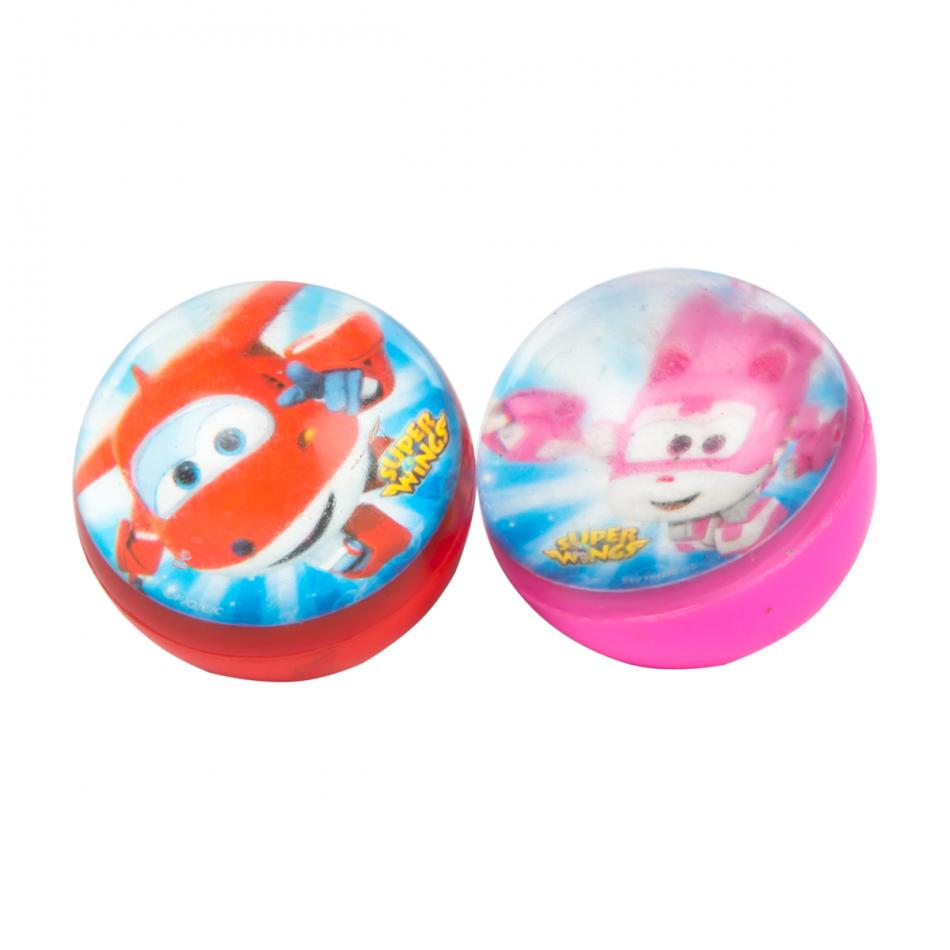 Blister 2 pelotas saltarinas diámetro 5 cm. Super Wings Jett y Dizzy