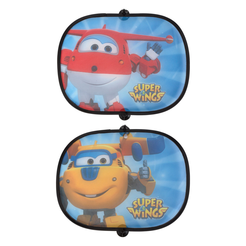 Set 2 parasoles lateral Coche Super Wings